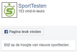 Volg Sporttesten op Facebook